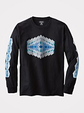 Long Sleeve Jacquard Print Tee