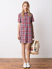 Scout Lake Plaid Shirt Dress