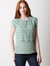 Olallie Stripe Silk Top