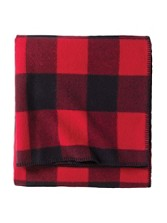 Eco-wise Wool Plaid/stripe Blanket