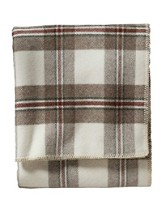 Eco-wise Wool Plaid Easy-care Blanket