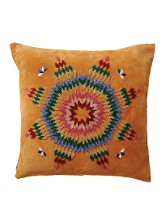 Beaded Suede Toss Pillow