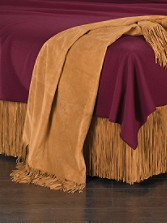 Suede Fringed Throw