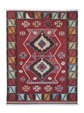 Birds-and-diamonds Wool Rug