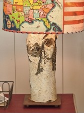 Birch Log Lamp Base