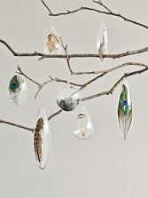 Floating Feather Ornaments, Set Of 7