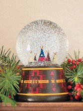 Tepee Snow Globe
