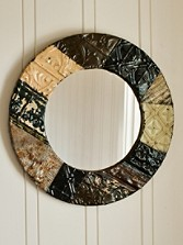 Quilted Ceiling Tin Mirror