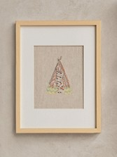 Framed Stitched Artwork - Tepee