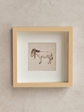 Framed Stitched Artwork - Donkey