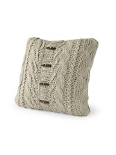 Sweater-knit Alpine Toss Pillow