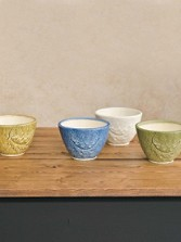 Oak Leaf Latte Bowls, Set Of 4