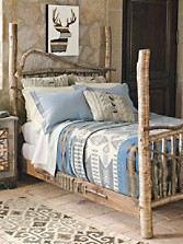Four-poster Birch Bed