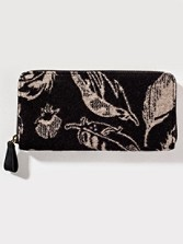 Feather Storm Jacquard Zipper Wallet
