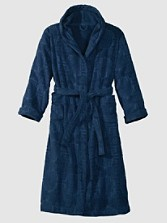Sculpted Bathrobe With Hood