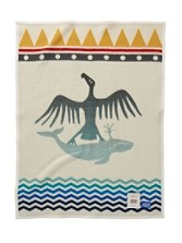 Thunderbird And Whale Crib Blanket