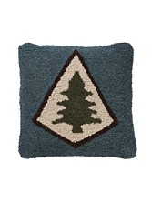 Pine Lodge Hooked Pillow