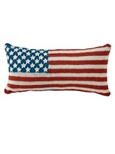 Knit Flag Pillow