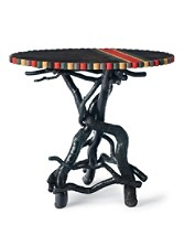 Oval Twig Tripod Table