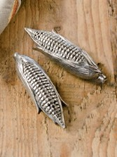 Pewter Corn Salt And Pepper Shakers