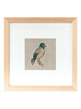 Bird And Anchor Framed Stitched Artwork