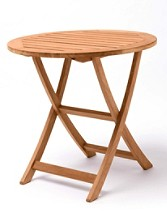 Teak Folding Cafe Table