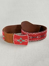 Tribal Beaded Belt