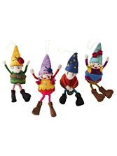 Gnome Ornaments, Set Of 4