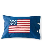 Denim Flag Pillow