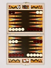 Flame Stitch Backgammon Board