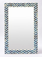 Chevron Bone Wall Mirror