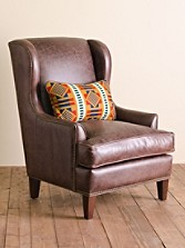 All-leather Logan Chair