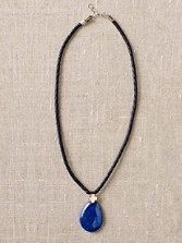 Lapis And Leather Pendant