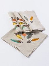 Feather Fan Napkins