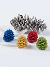 Pinecone Candles, Set Of 4