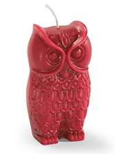 Big Owl Beeswax Candle