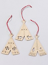 Teepee Ornaments