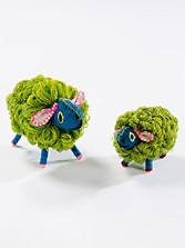 Small Twoolies Glitter Sheep, Set Of 2