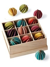 Carnaby Groove Ball Ornaments, Set Of 9