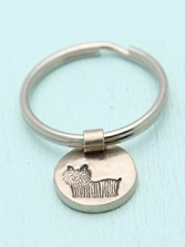 Dog Picture Frame Key Chain