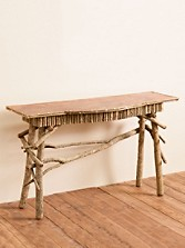 Bowfront Coppertop Console Table