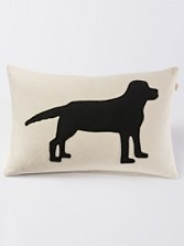 Black Lab Embroidered Pillow