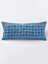 Octagon-print Oblong Pillow