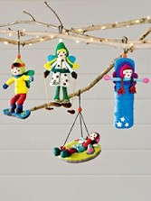 Winter Sport Fairies Ornaments, Set Of 4