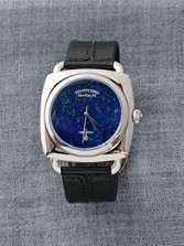 Lapis Face Leather Watch
