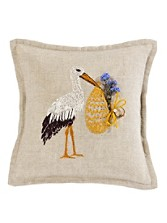 Little Treasures Stork Pillow