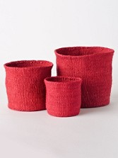 Sisal Nesting Baskets, Set Of 3
