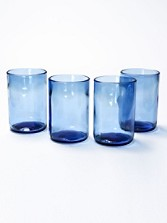 Wine Bottle Tumblers, Set Of 4