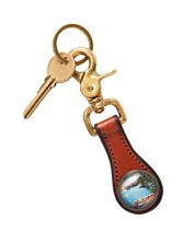 Leather Canoe Key Fob
