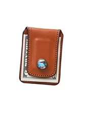 Leather Canoe Money Clip
